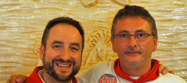 Patxi con Andoni Aduriz